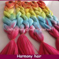 STOCK synthetic braiding hair extension heat resistant/synthetic fiber braidings/purple synthetic braiding