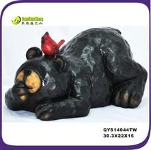 15cm creative black resin bear gift craft