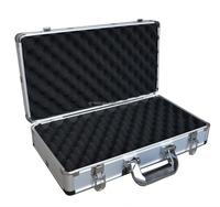 Sliver Aluminum Short Hand Gun Hard Locking Case