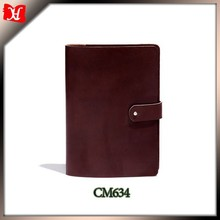 Top Grain Waxed Genuine Leather Sketchbook Holder Leather Document Holder