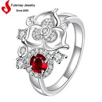 Latest wedding designs flower shaped finger rosary ring