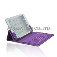 2013 best sale keyboard case for ipad mini ,for ipad cases with bluetooth keyboard,purple leather case with keyboard for ipad 2