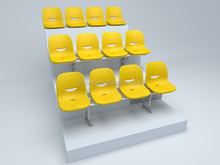 AntiUV outdoor stadium, school university use public chair