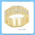 Moda cristal new design senhoras anel de dedo