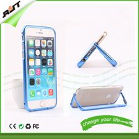 2015 creative product! metal kickstand bumper case for iphone 6/6s/6plus, for iphone metal stand/holder phone case bumper