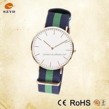 Color Nylon Vogue Band Fashion Watch 2015 Hottest Nato Wrist Watch Quartz Popular Vogue Stainless Steel Watch