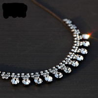 2015 fashion Korean short paragraph clavicle chain necklace with flash rhinestones 267