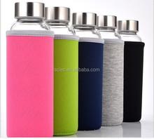 Hot selling glass sport water bottle