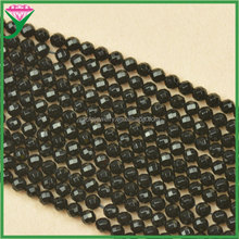 AAA grade 6mm loose faceted round natural black agate gemstone for bracelet