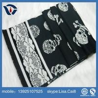 2015 cheap new design lady novel pashmina jacquard hot stripe scarf