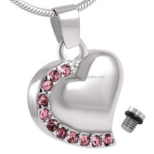 Various Color Available Heart Edged Gemstone Cremation Jewelry