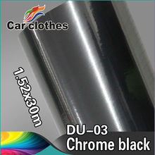 Guarantee 100% 1.52x30m Car Stickers Black Chrome Wrapping Vinyl
