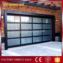 YQG-02 Frosted Aluminum Glass Panel Garage Doors,sliding glass shower door hardware