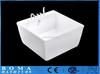 White Cultured Marble Freestanding Bathtub