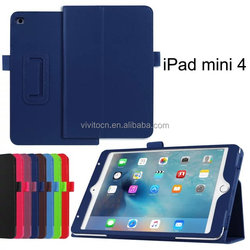 For Ipad Mini 4 lichee book style PU leather flip cover case