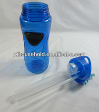 with carabiner single wall plastic sport filter water bottle