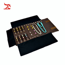 Treachi Portable PU/Velvet Jewelry Display Holder Necklace Earrings Bracelets Gift Storage Pouch Jewellery Packaging Roll Bag