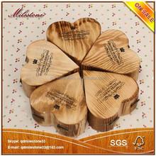 2015 Wholesale Custom Design Natural Unfinished Wood Craft Hinged Box
