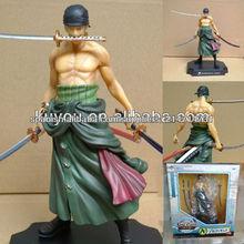 (moq $ 300) 22cm roronoa cero para el mundo nuevo una sola pieza japonesa desnuda figura proveedor animado