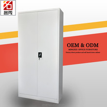 Modern design clothes/ room toy storage cabinet 2 door steel wardrobe
