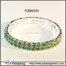 2015 smart bracelet, 2-row crystal paved adjustable wire bracelet wholesale