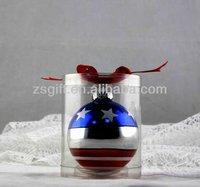 amazing glass ball with national flag christmas tree ornaments