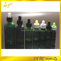 promotion product 30ml green glass e liquid bottle with child resistant cap and glass pipette from bottle manufacturer