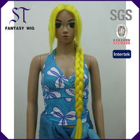 35'' yellow anime doll synthetic cosplay wigs for girls' party