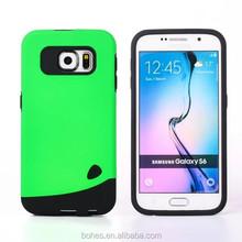 unique Dual layer cobblestone case for Samsung S6