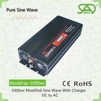 Hot sell pure sine wave inverter12v 24v solar power inverter battery inverter1000w 85% efficiency 50hz 60hz with CE single phase