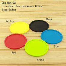 Eco-Friendly Homewares Plastic Washable Coasters Favors,Soft Custom Silicone Coasters