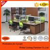 Multifunctional Workstation desk, 4 Seat Workstation, Modern Design Workstation