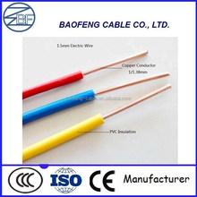 solid copper conductor 1.5 mm copper wire
