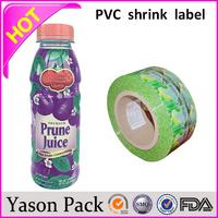 Yason opp header heat shrink hang toy scented plastic bag pvc shrink wrap plastic bottle labels bottle shrink bottle vinyl label