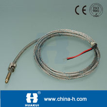 Huakui flexible metal tubing j type thermocouple