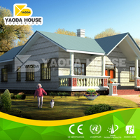 Beautiful and cosy steel sandwich panel prefabricated houses spain