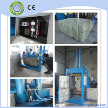 Hydraulic vertical nature fiber baling machine in good condition