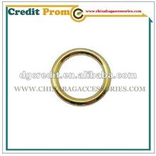 Zinc alloy O metal ring for bags and shoes