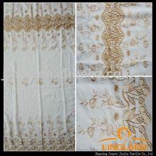 Sheer fancy jacquard curtain fabric