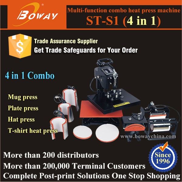 4 in 1 heat press machine ST-S1 - BOWAY