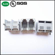 rj 45 connector Side Entry PCB Jack ,6P6C-1X2-E ,Mini low Profile, Tab UP, Ind Temp Thru Hole.