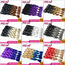 Kanekalon Synthetic Hair Ombre Two Tone Colored X-pression Jumbo Synthetic Hair Braid