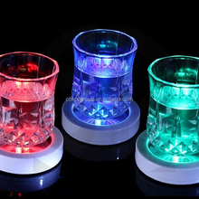 bottle mat coaster blinking pad luminous circle ultra-thin led flash coaster