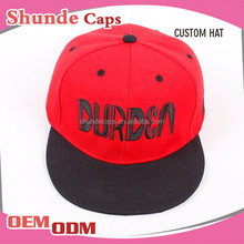 Wholesale Cheap Flat Brim Cotton Twill 2 Tone Blank Snapback Caps Custom
