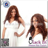 Indian Kinky Curly Full Lace Wig machine made human hair wig
