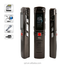 809 8GB USB Digital portable Voice Recorder MP3 music Player USB 2.0 High Speed audio recorder