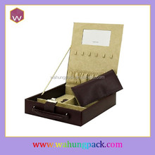 2014 New Leather Jewelry Packaging Box & Luxury Gift Box Packaging with Hinge