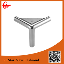 Factory customized triangle Y shape chrome metal legs for furniture