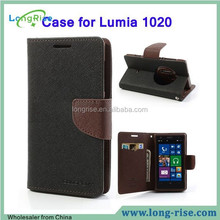 Best Price Mercury Goospery Fancy Diary Case for Lumia 1020, TPU+PU Leather Case for Nokia Lumia 1020