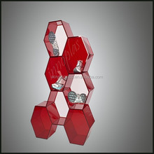 Fashion Modern Color Shoe Plexiglass Display Cabinet